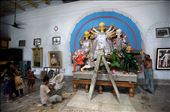 "THE PROCESS OF DECORATION GOING ON. THE IDOL IN THE MIDDLE IS ""GODDESS DURGA"".: by dproy, Views[176]"