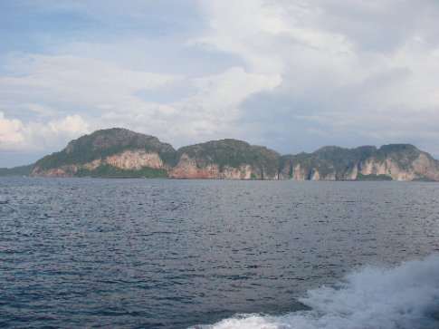 on boat...phi phi staight ahead