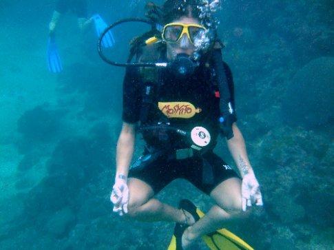 om under water