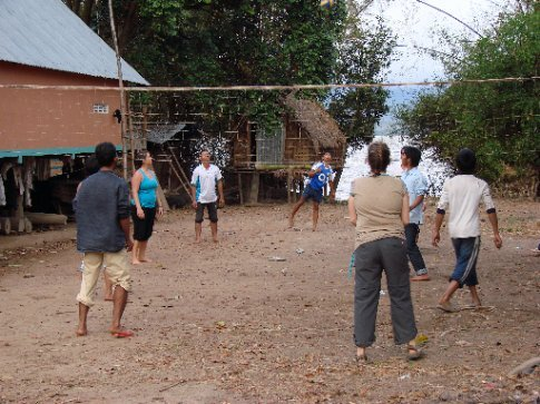 playin volleyball with the locals