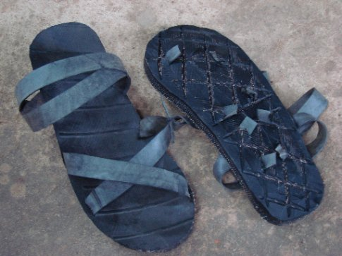 shoes made out of old truck tires