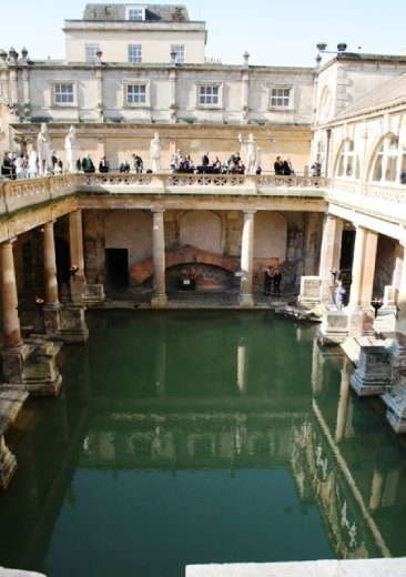 Roman baths in the town of...Bath funnily enough
