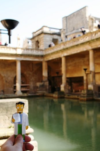 Checking out the roman baths