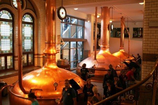 Inside the Heinekin factory