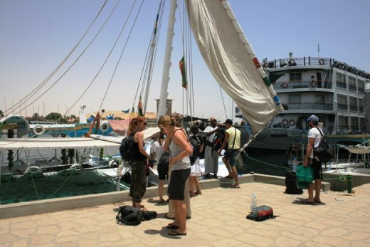Our transport & home for the next 2 days - a felucca on the Nile