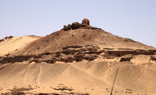 Tombs on top of the hill overlooking the Nile - not a bad resting place