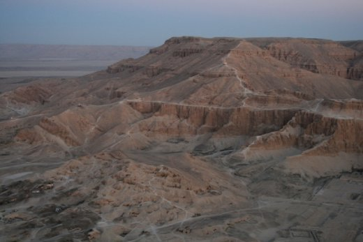 Looking back over Valley of the Kings