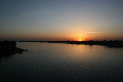 As we started to cross the Nile...naughty naughty