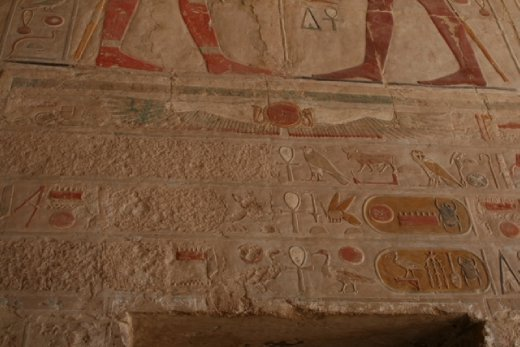 Hatshepsut's name defaced by her step-son to prevent her being remembered and getting into heaven