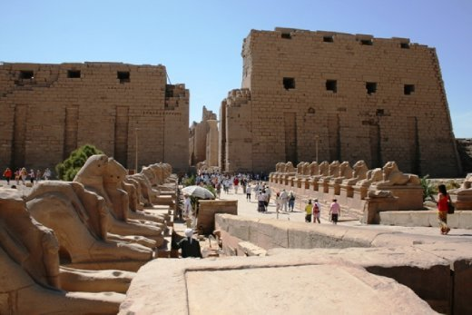 Entrance to Karnak Temple in Luxor