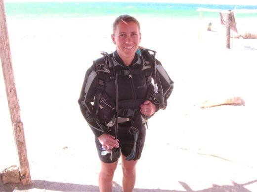 All geared up for my first scuba dive
