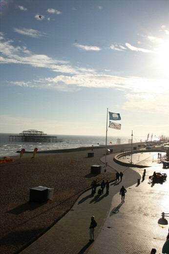 An evening stroll along the waterfront towards the old West Pier