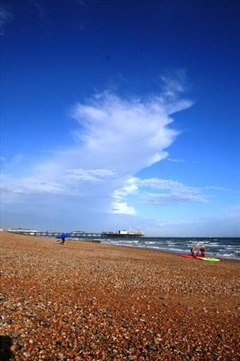 Looking back towards Brighton Pier