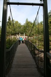 Hanging bridge over the falls: by drmitch, Views[142]