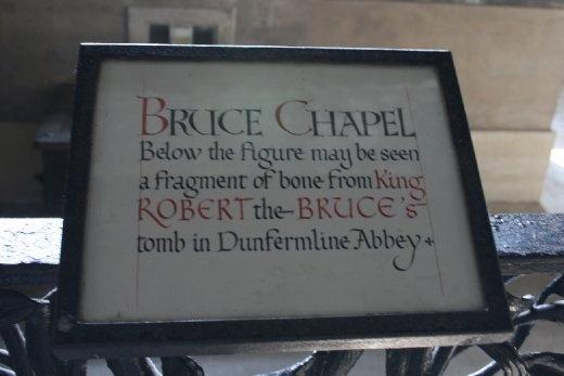 Robert the Bruce's pinkie lies here...