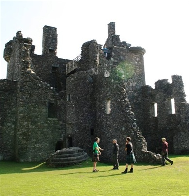The inside of the castle