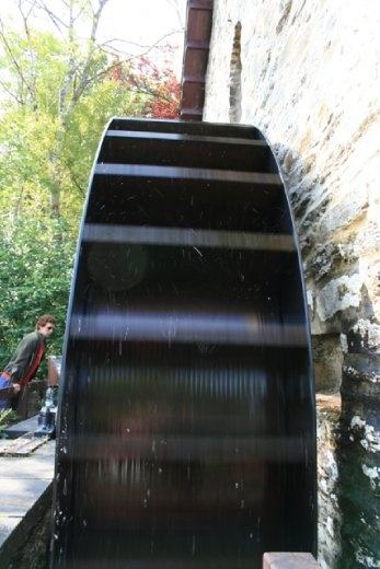 Tried to imagine climbing up the waterwheel like in the movies...looks too painful!