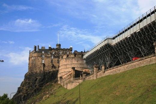 Edinburgh Castle view from the hostel