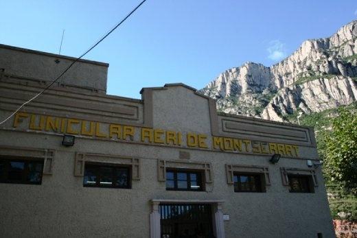 Cable car up Montserrat mountain