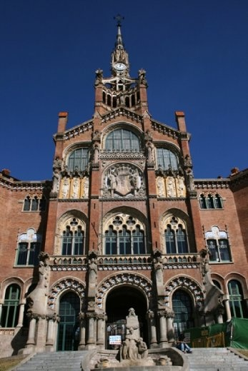 Hospital de la Santa Creu i Sant Pau - another World Heritage Site - several tours of the hospital run daily but unfortunately we had missed the English tour that day