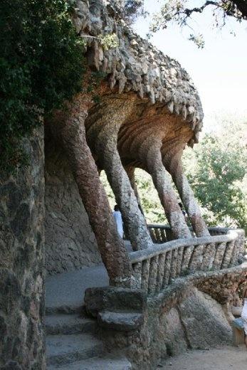 Weird terraces designed by Gaudi