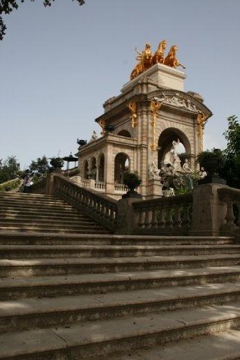 Gaudi designed fountain in the Parc de la Ciutadella - the most central park in Barcelona