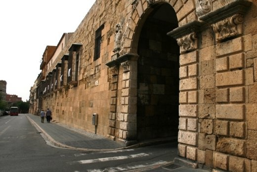 Saint Antonie gate in the original walls that surrounded the town of Tarragona