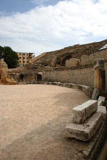 Wandering around in the amphitheatre