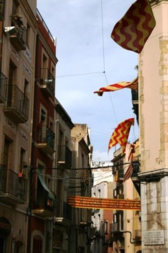 More flags covering the town