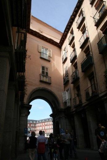One of the entrances to Plaza Mayor