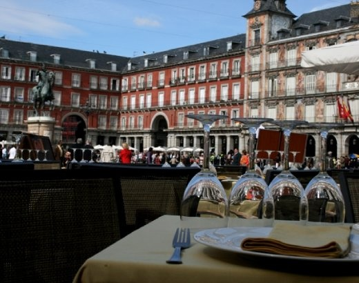 Plaza Mayor - very busy