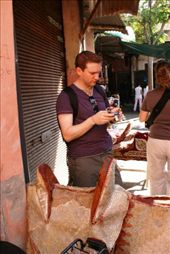 Ross checking out his photos of the souks: by drmitch, Views[95]