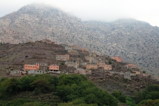Village houses on the side of the mountain