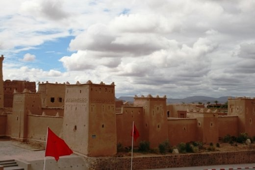 Stopping at another kasbah on the way to Rose Valley