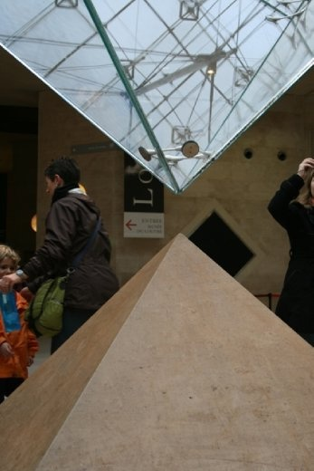 Entrance to the Louvre - the famous upside down pyramid