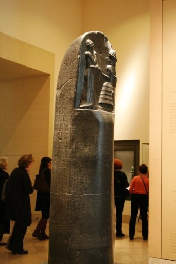 Moabite Stone - black basalt stone bearing an inscription by the 9th century BC ruler Mesha of Moab in Jordan.