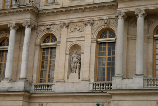 The balcony from which Queen Marie Antoinette made her famous speech to the rioting fishwives