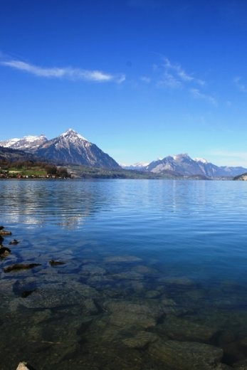 Lake Thun - one of the two lakes of Interlaken
