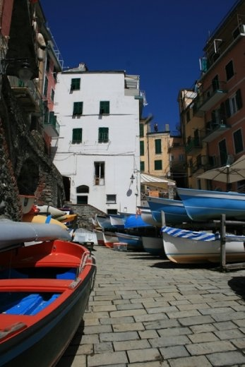 Looking back towards Riomaggiore town