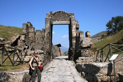 Posing in Pompeii