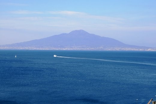 View of Vesuvius from the town