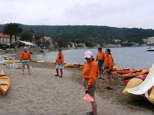 Getting ready to paddle across the channel from Lopud to Sipan Island