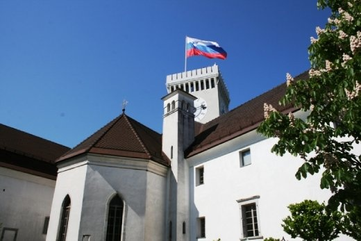 Ljubljana Castle is a medieval castle located at the summit of the hill that dominates the city centre