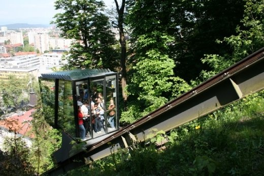 A funicular now links the castle to the city centre - I took the longer way & walked through the forest. Much nicer