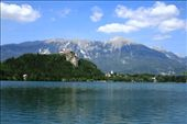 The lake surrounds Bled Island, the only natural island in Slovenia. The island has several buildings, the main one being the Pilgrimage Church of the Assumption of Mary : by drmitch, Views[106]