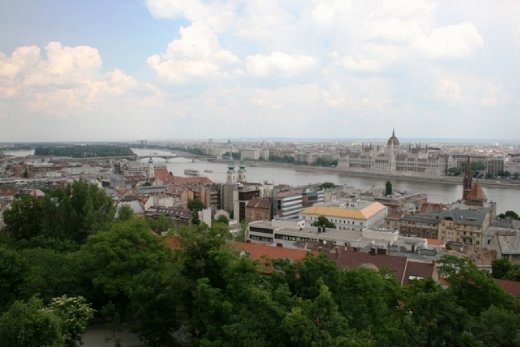 View of Pest on the other side of the Danube