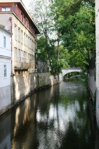 Lovely little canal near the Lennon Wall - it is a bit tricky to find