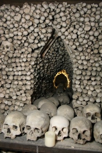 Estimated to contain the skeletons of between 40,000 and 70,000 people. It was a popular burial site.
