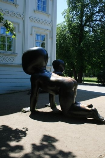 And creepy baby statues in Kampa Park
