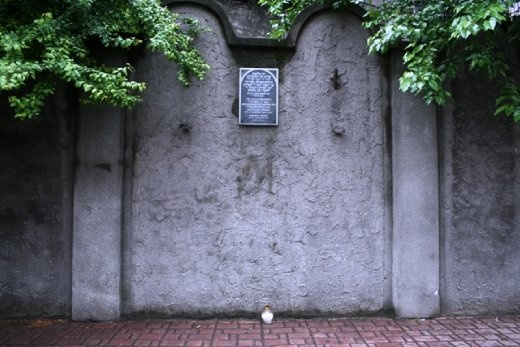 The walls of the ghetto were purposely designed to look like tombstones